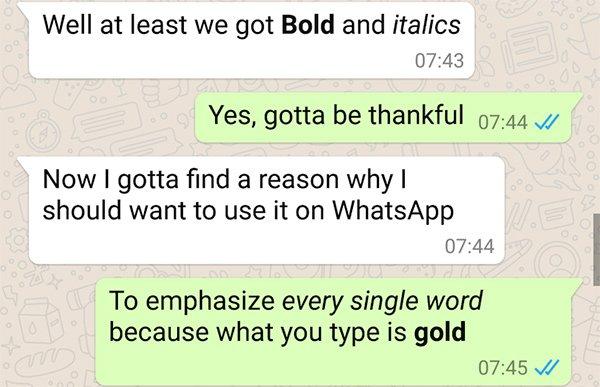 WhatsApp funzioni segrete 4