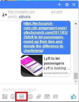 Come inviare gif animate su Messenger
