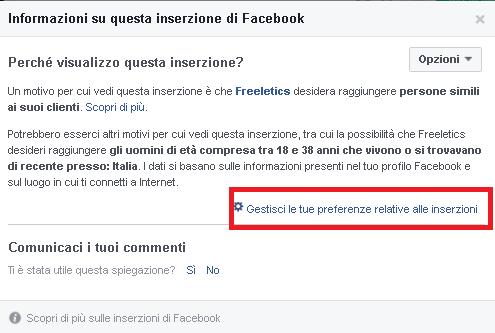 Spiare Facebook Ads secondo step
