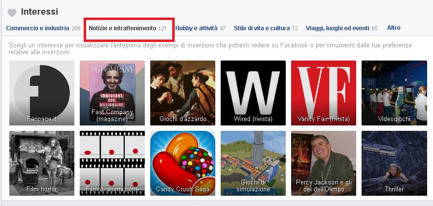 Spiare Facebook Ads terzo step