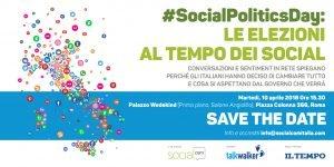Elezioni, socialmedia #socialpoliticsday